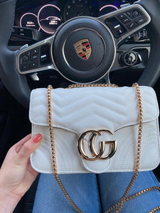 Georgia Crossbody Marmont Bag - White