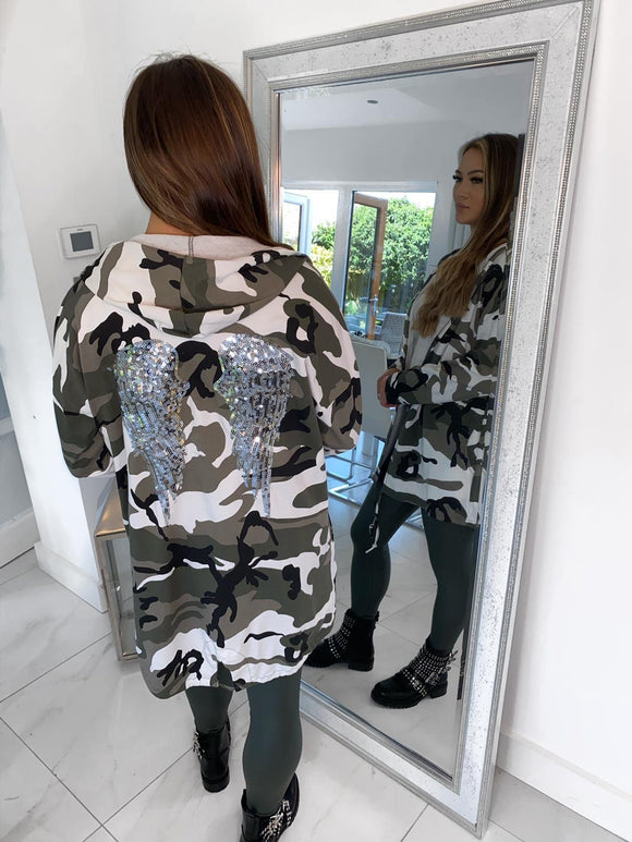 Soph Angel Wings Jacket - Camo/White