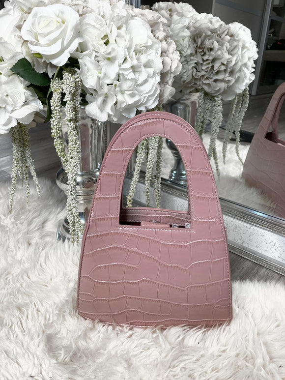 Jordyn Detail Tote Bag - Pink