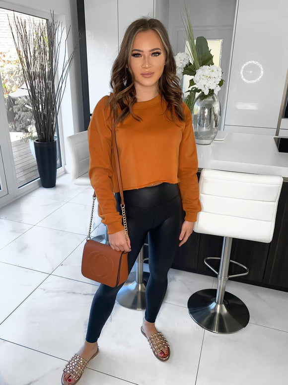 Nora Cropped Jumper - Rust