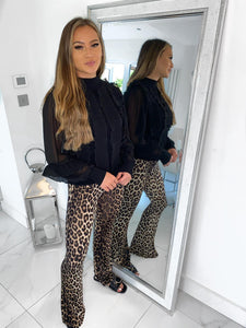 Taylor Flare Trousers - Leopard Print