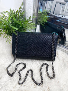 Cora Snake Detail Bag - Black