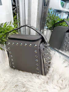 Talia Studded Bag - Dark Grey