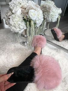 Harriet Fluffy Slippers - Pink