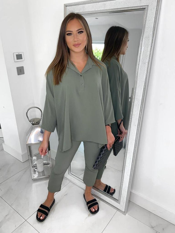 Zara Co-ord Set - Khaki