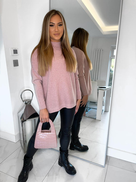 Kimberly Ribbed Jumper - Pink