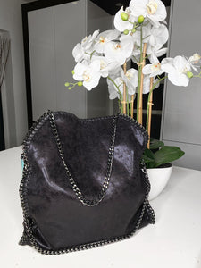 Nessa Chunky Chain Large Bag - Black