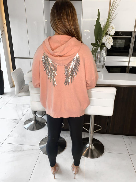 Stace Angel Wings Hoodie - Pink