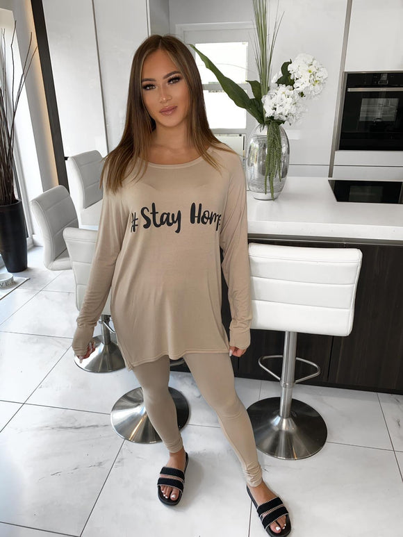 Stay Home Lounge Set - Beige
