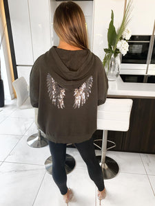Stace Angel Wings Hoodie - Khaki