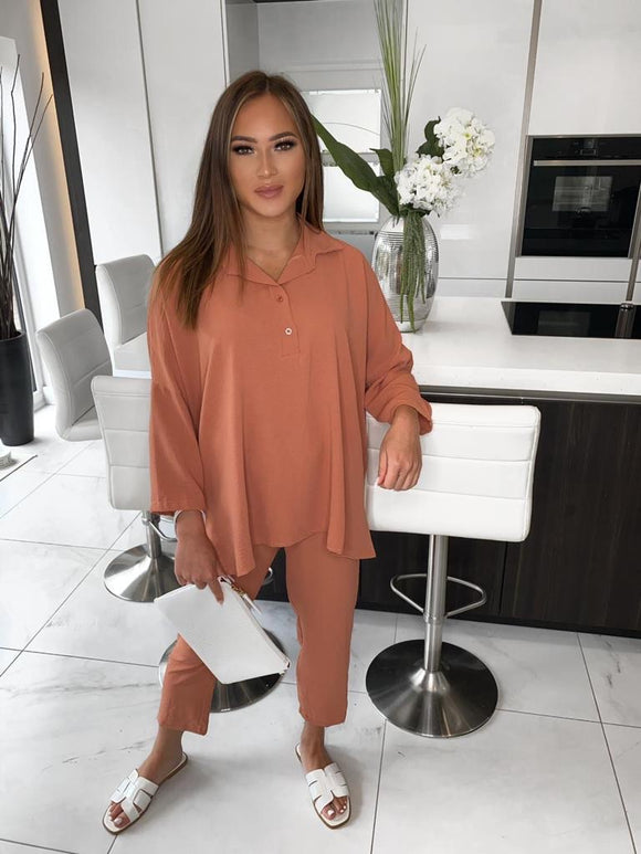Zara Co-ord Set - Rust