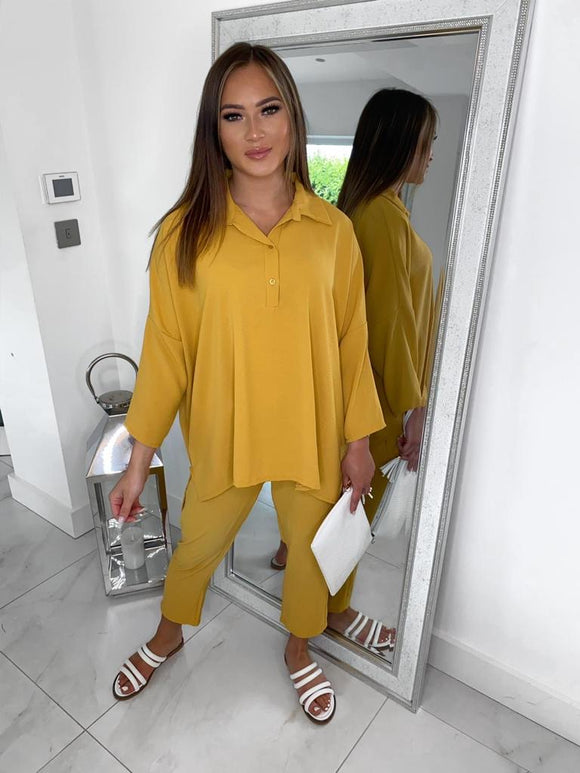 Zara Co-ord Set - Mustard