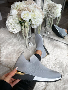 Leonie Sock Trainers - Grey