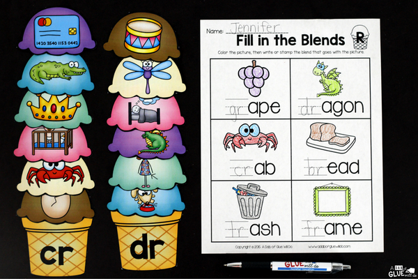 Make language arts and math fun with this themed Ice Cream Literacy and Math Centers bundle that is perfect for your lower elementary aged children. Use these fun language arts summer themed worksheets to review with your Preschool, Kindergarten, and First Grade students important language arts and math concepts in a fun and interactive way. All ce