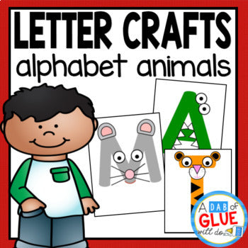 Alphabet Letter Crafts: Animals