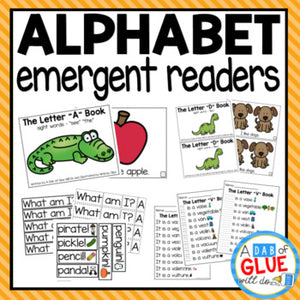 Alphabet Emergent Readers with Activities Bundle