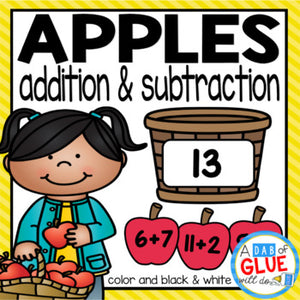 Apple Editable Addition and Subtraction Activity