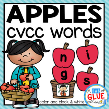 Apples CVCC Word Building Activity
