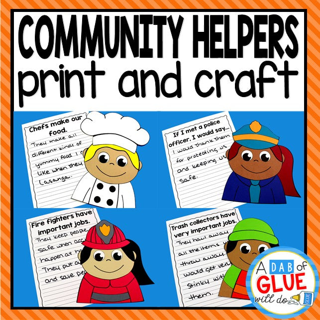 Community Helpers Craft and Creative Writing