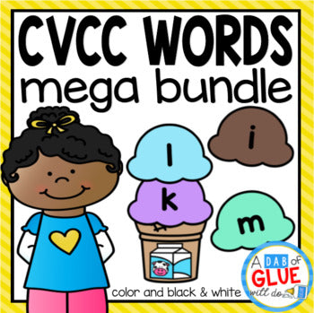CVCC Word Building Activity Mega Bundle