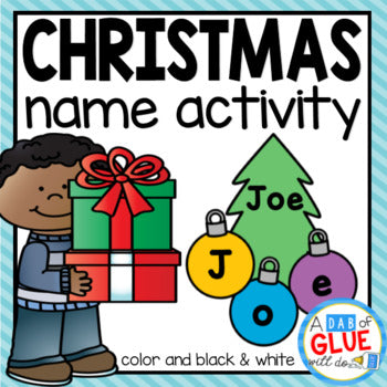 Christmas Editable Name Activity