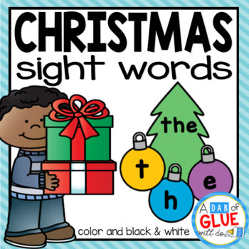 Christmas Editable Sight Word Activity