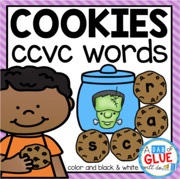 Cookie CCVC Word Building Activity