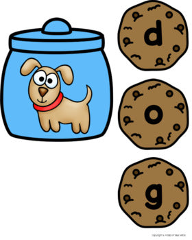 Cookie CVC Word Building Activity