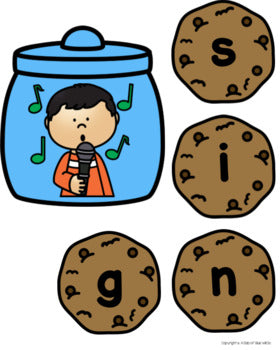 Cookie CVCC Word Building Activity