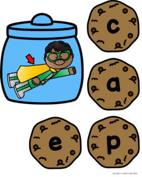 Cookie CVCE Word Building Activity