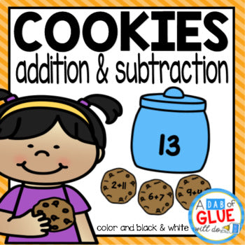 Cookie Editable Addition and Subtraction Activity