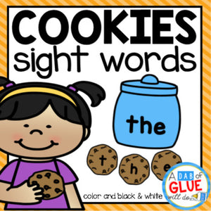 Cookie Editable Sight Word Activity