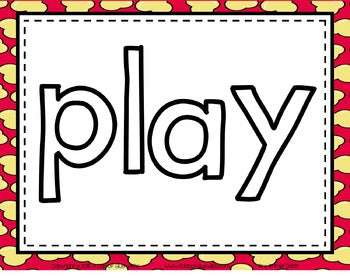 Sight Word Activities, Centers, and Word Wall: Dolch Pre-Primer {Popcorn}