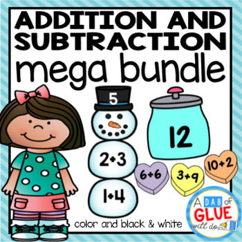 Editable Addition and Subtraction Activity Bundle
