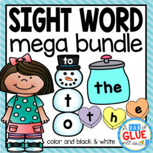 Editable Sight Word Activity Bundle