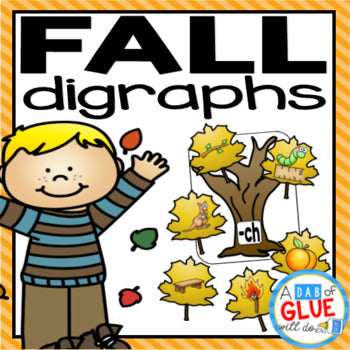 Fall Leaves Digraph Match-Up