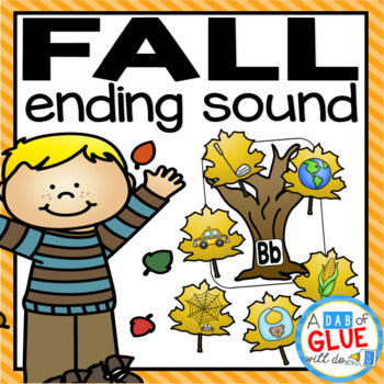 Fall Leaves Ending Sound Match-Up