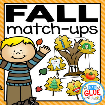 Fall Leaves Match-Ups Bundle