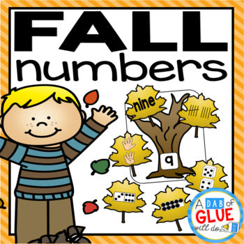 Fall Leaves Number Match-Up