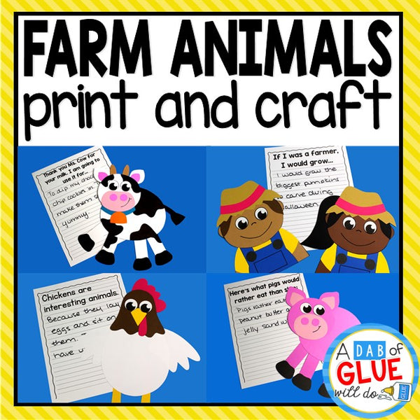 Farm Animals Print and Craft and Creative Writing