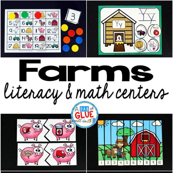 Engage your class in an exciting hands-on experience learning more about the apple! This Farm Literacy and Math Centers resource is perfect for language arts and math centers in preschool, pre-K, Kindergarten, and First Grade classrooms and packed full of inviting student activities. Celebrate fall or spring with farm themed center student workshee