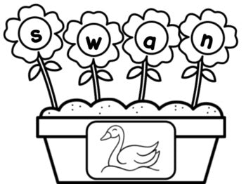 Flowers CCVC Word Building Activity
