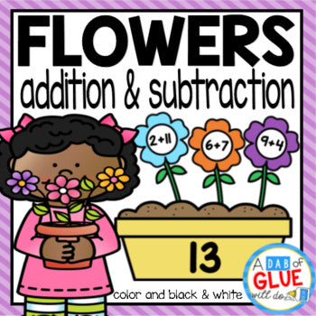 Flowers Editable Addition and Subtraction Activity