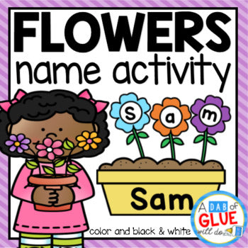 Flowers Editable Name Activity