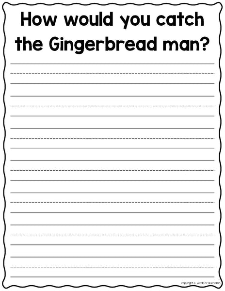 Gingerbread Man Paper Craft Activity and Creative Writing