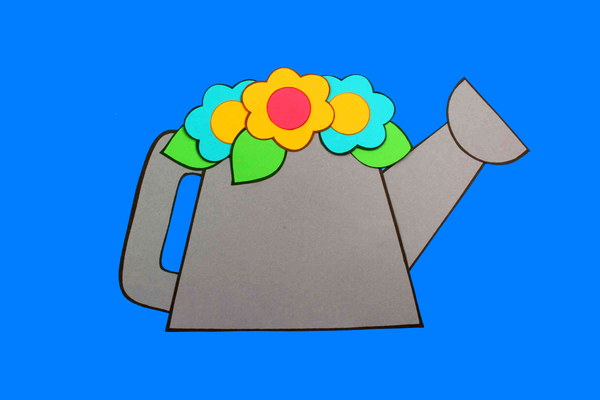 Watering Can Paper Craft Activity and Creative Writing