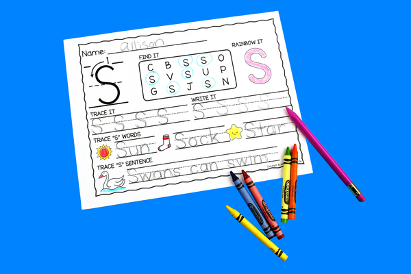 Letter S Activities: Uppercase Letter Craft and Alphabet Worksheet