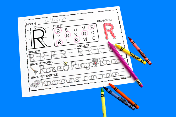 Letter R Activities: Uppercase Letter Craft and Alphabet Worksheet
