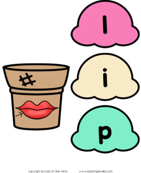 Ice Cream CVC Word Building Activity