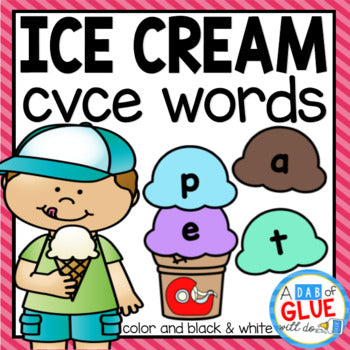 Ice Cream CVCE Word Building Activity